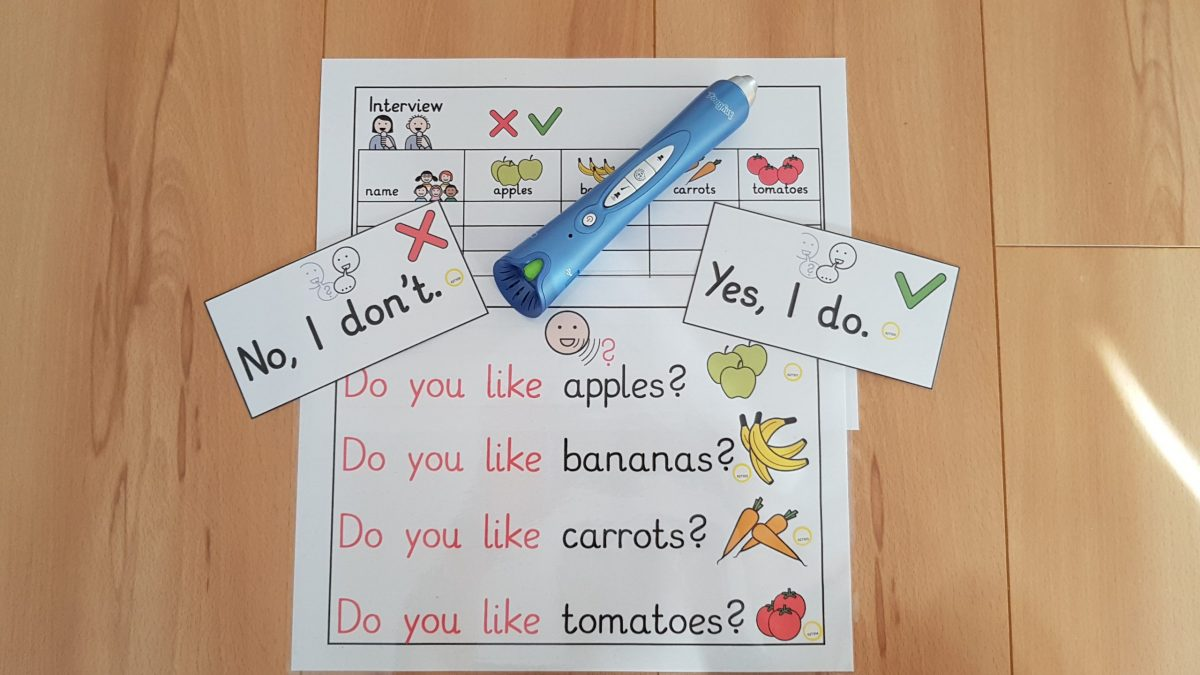 Class survey: fruits and vegetables